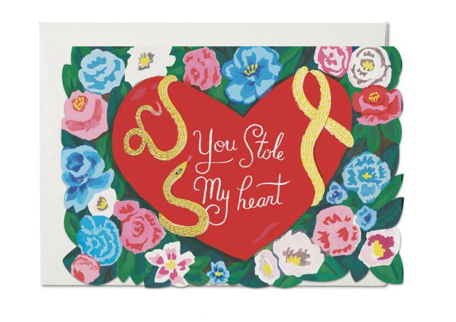 Stole My Heart Valentine Card by Danielle Kroll for Red Cap Cards