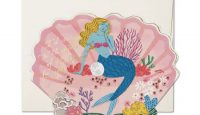 Blue Mermaid Valentine Card by Danielle Kroll