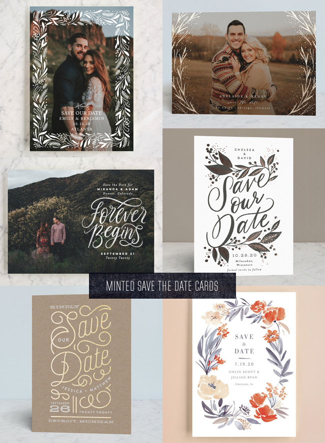 2018 Minted Save the Date Cards #savethedate #minted