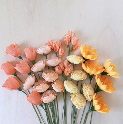 Amaranthus Paper & Flora Paper Flowers
