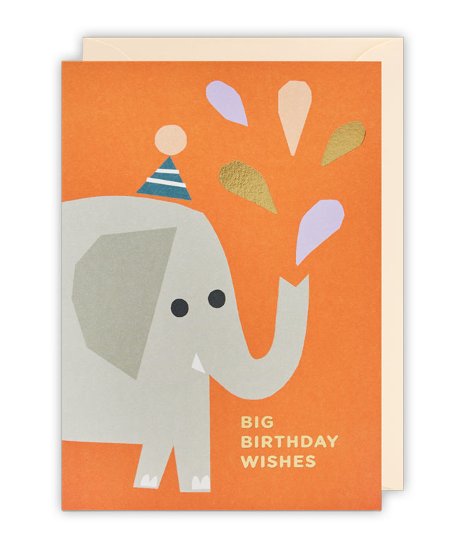 Elephant Birthday Card by Ekaterina Trukhan for Lagom