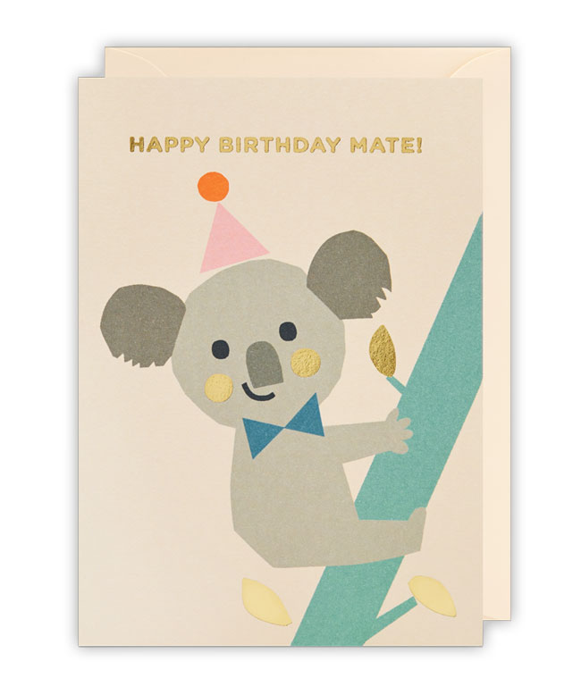Koala Birthday Card by Ekaterina Trukhan for Lagom