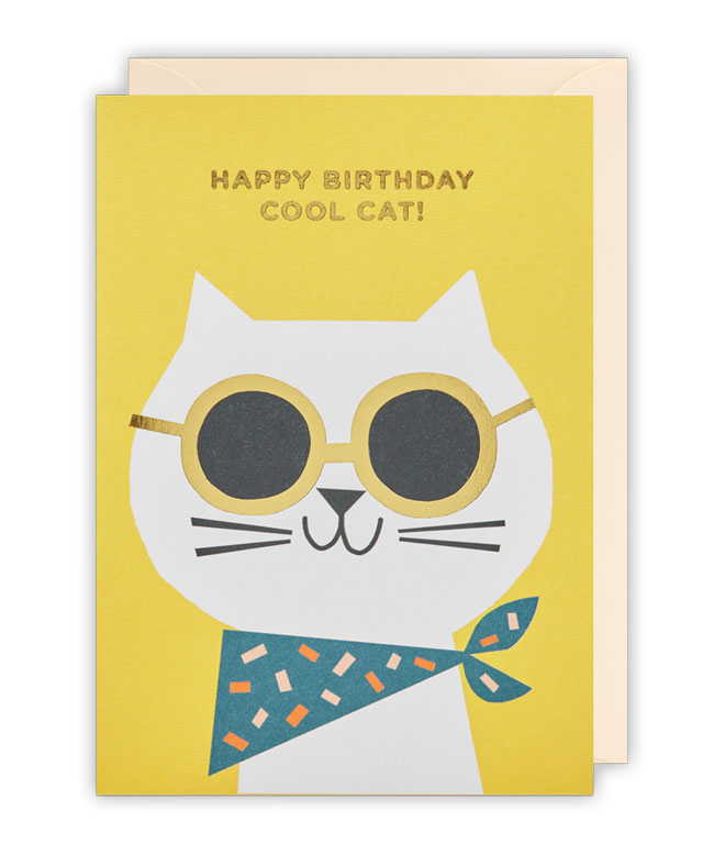 Cute birthday cards by ekaterina trukhan for lagom paper crave cool cat birthday card by ekaterina trukhan for lagom m4hsunfo
