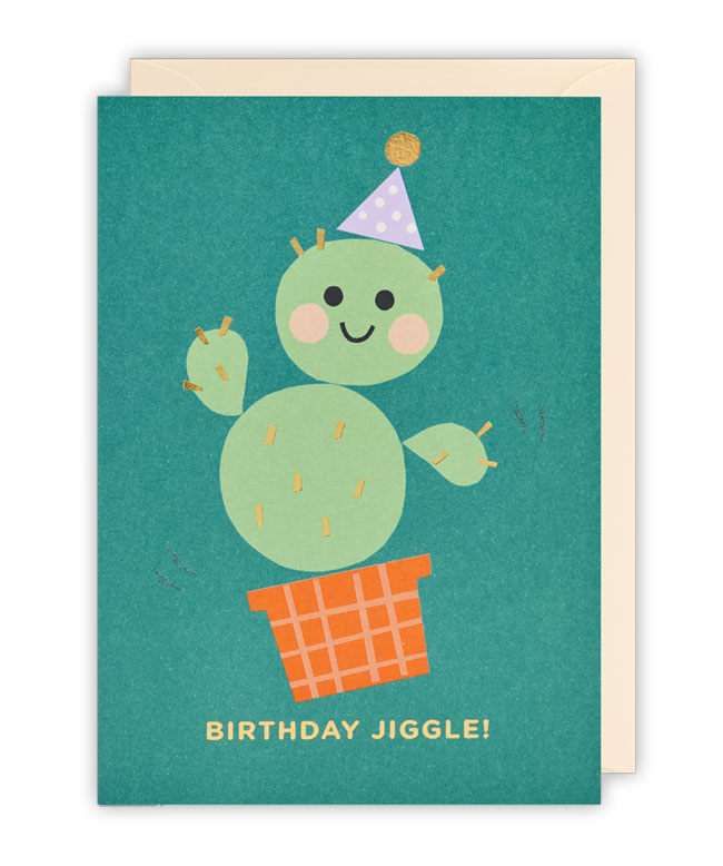 Cactus Birthday Card by Ekaterina Trukhan for Lagom
