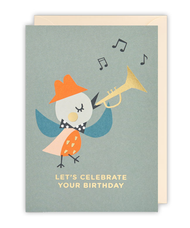 Birdie Birthday Card by Ekaterina Trukhan for Lagom