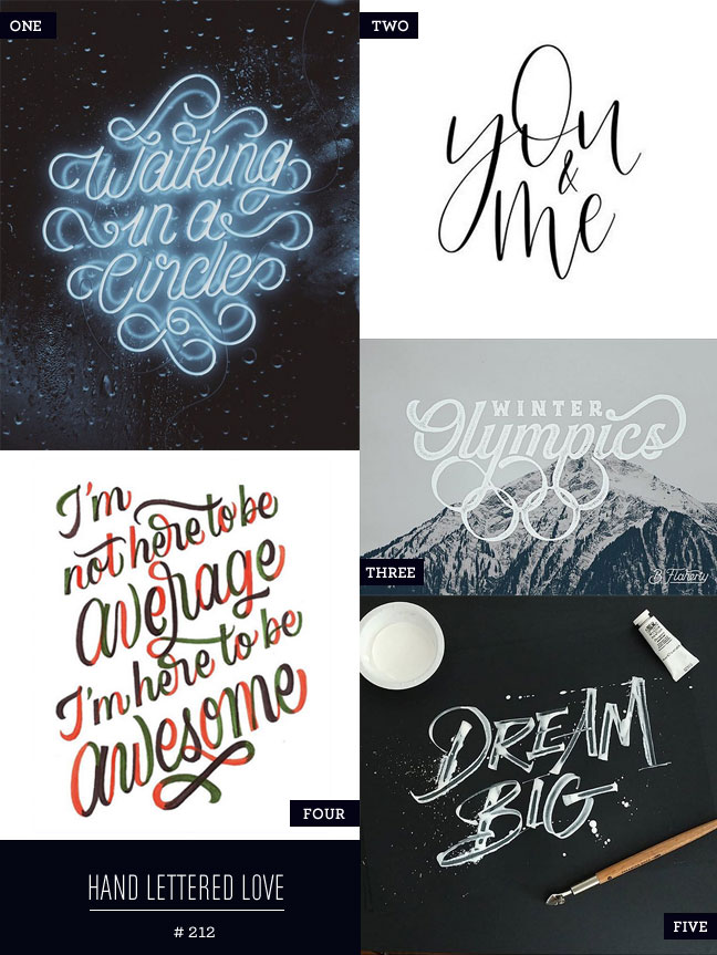 Hand Lettered Love #212