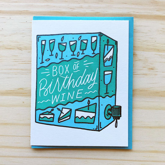 Benchpressed Funny Letterpress Birthday Cards