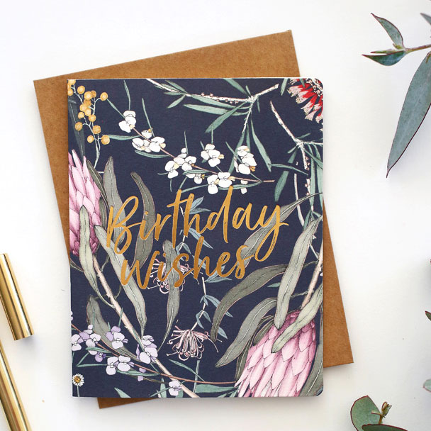 Floral Foil Greeting Cards from Bespoke Press + Edith Rewa #greetingcards