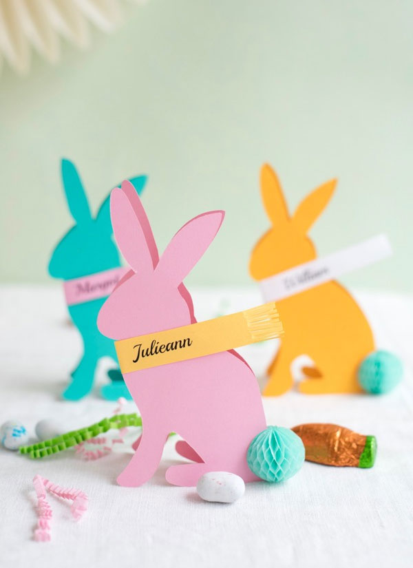 DIY Easter Bunny Place Cards from Oh Happy Day