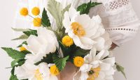 DIY Paper Flower Wedding Bouquet from The House That Lars Built