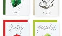 Foil Birthday Gemstone Cards by Wild Ink Press #birthday