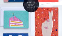 Happy Go Lucky Greeting Cards #greetingcards #stationery