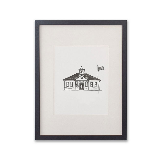 Hometown Heritage Letterpress Art Prints from Belle & Union #letterpress #farmhouse