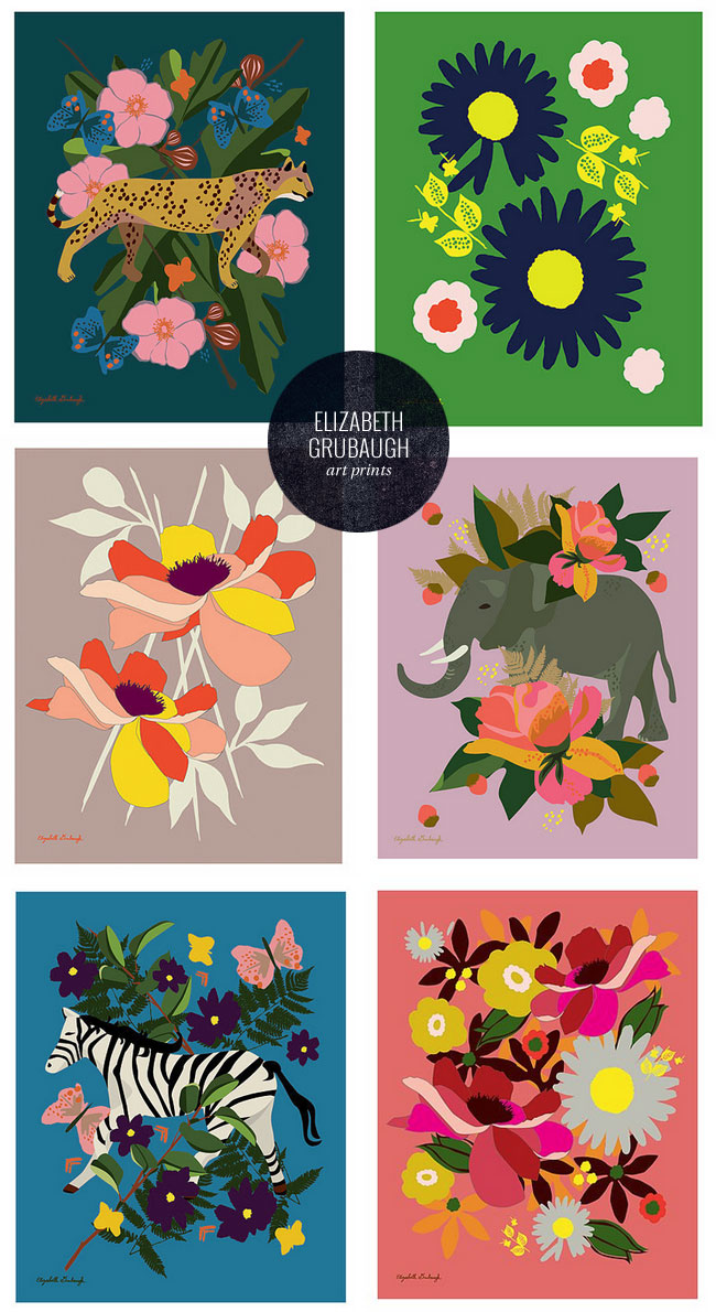 Beautifully Bold Art Prints by Elizabeth Grubaugh #wallart