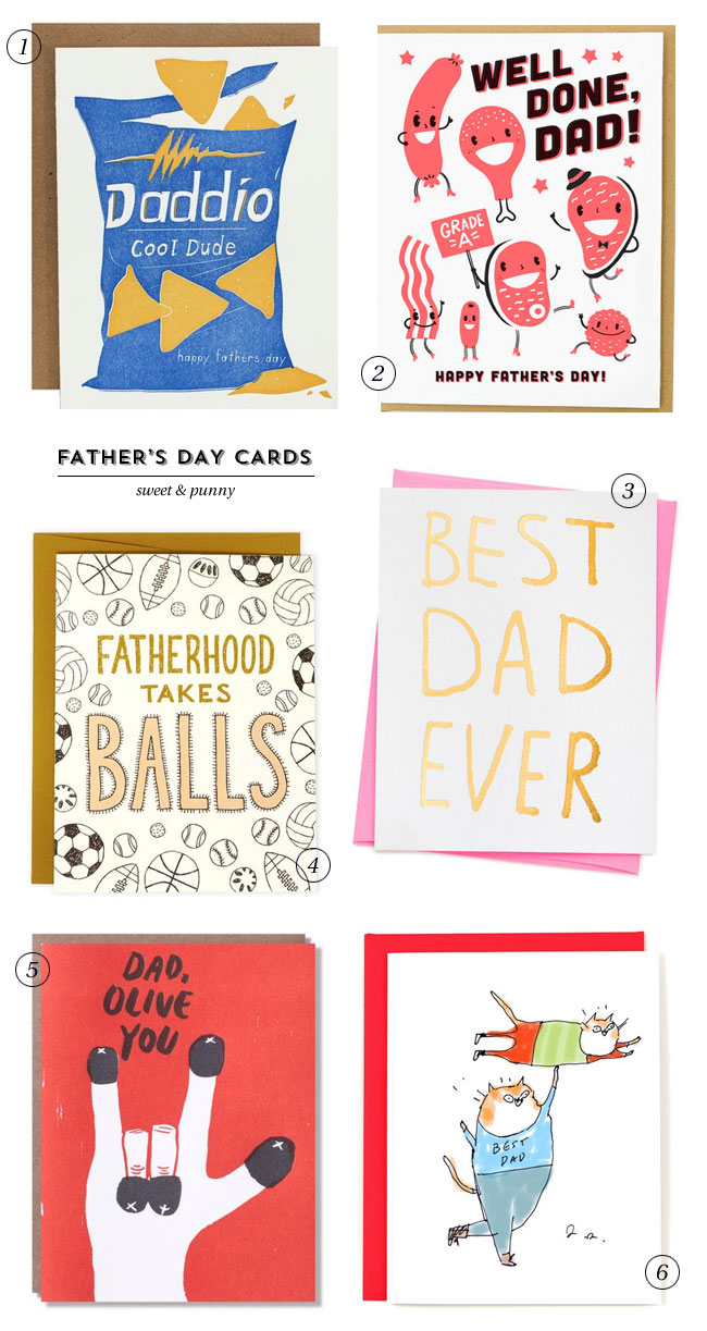 Sweet & Punny Father's Day Cards #fathersday