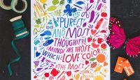 Free Printable Color Quote Wall Art from The House That Lars Built #wallart