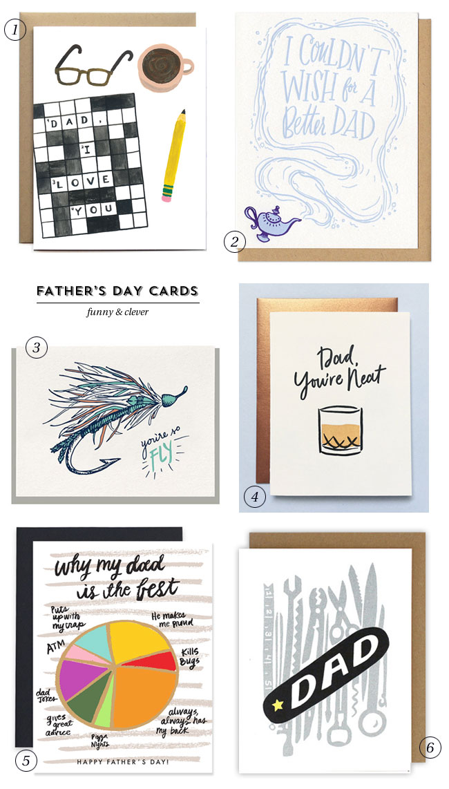 Clever & Funny Father's Day Cards #greetingcards #fathersday