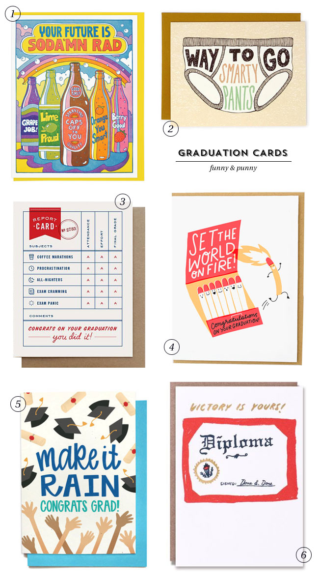 Funny & Punny Graduation Cards #greetingcards