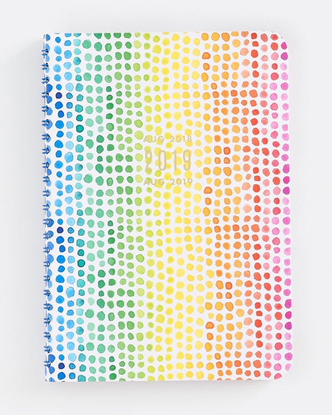 Rainbow Dot Planner from Paper Source