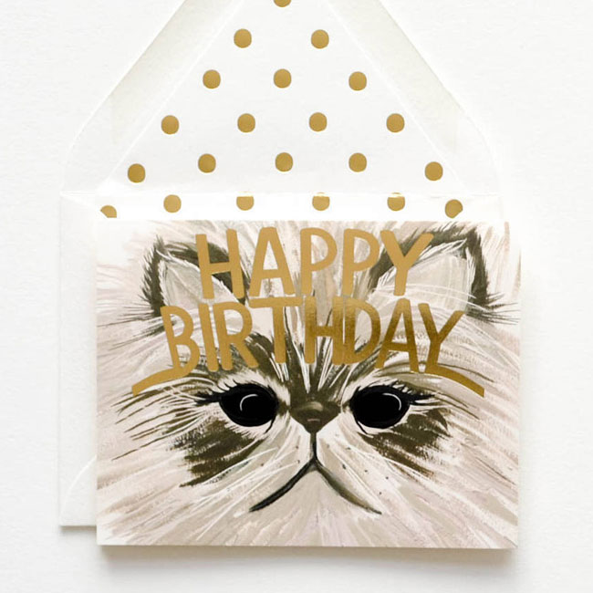 Cat Birthday Cards from The First Snow #birthdaycards #greetingcards