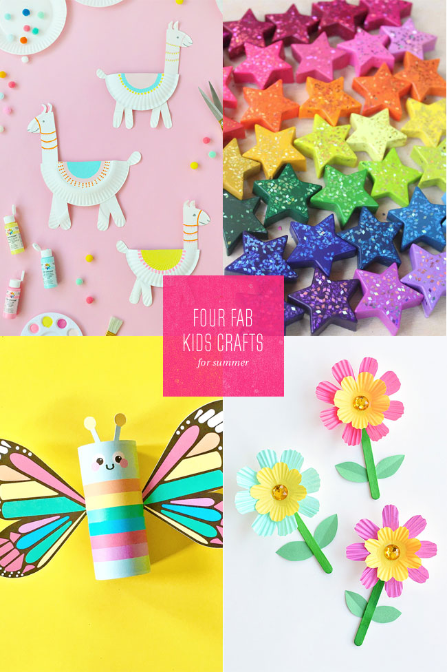 4 Fab Summer Paper Craft Ideas For Kids Paper Crave