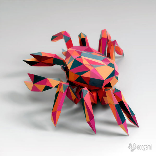 DIY Low Poly Paper Animals from Ecogami