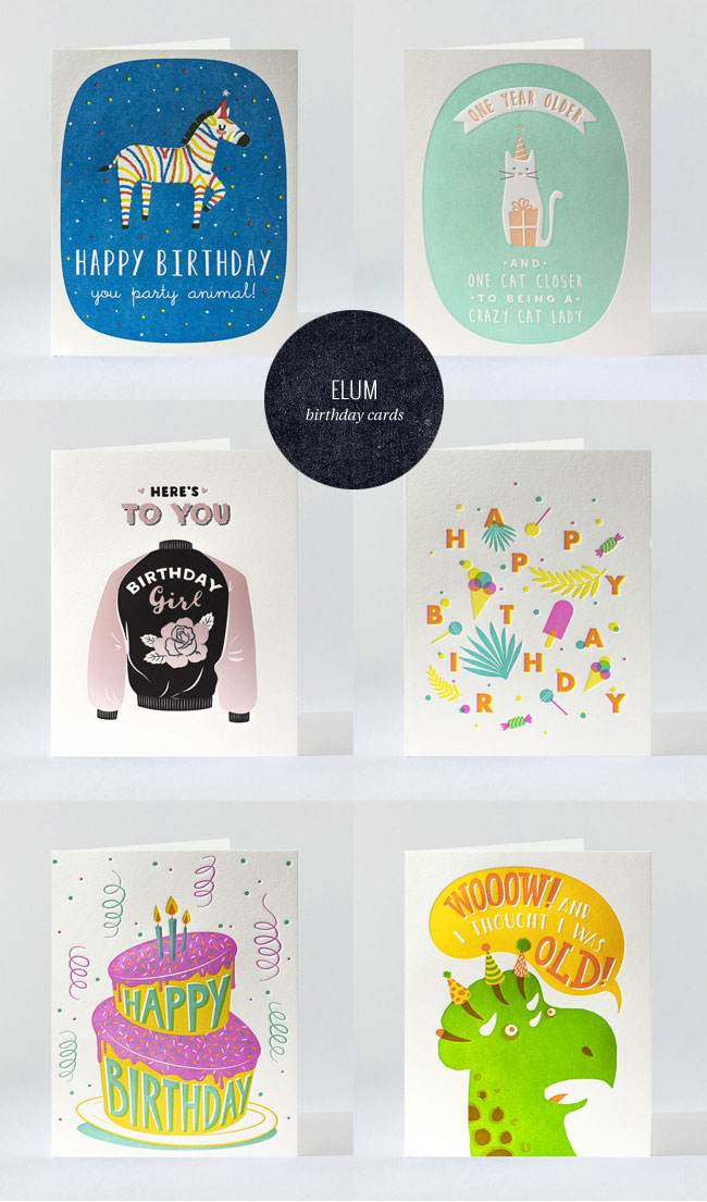 Sweet & Humorous Letterpress Birthday Cards from Elum #letterpress #birthday #greetingcards