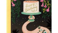 Pink Elephant Birthday Card by Joojoo Paper