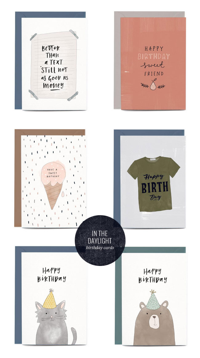 Birthday Cards by In the Daylight #greetingcards