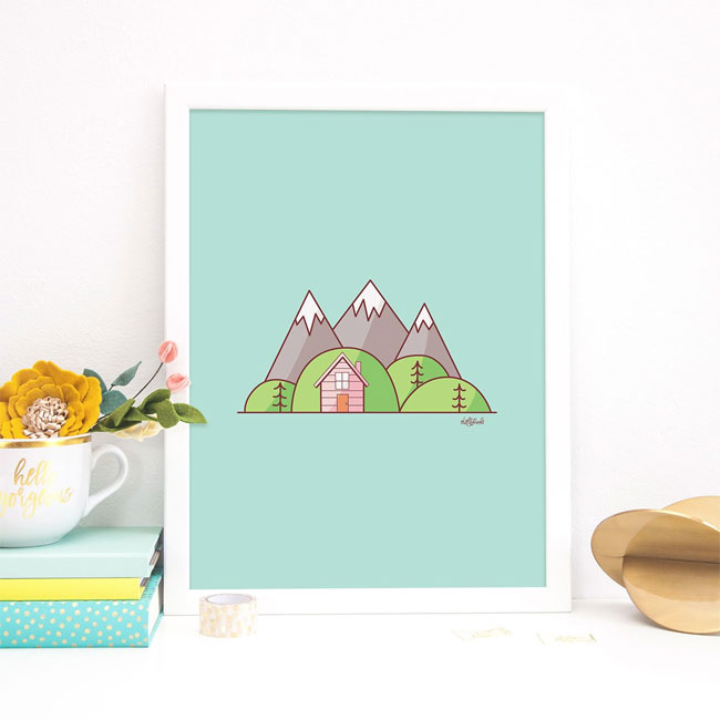 Mountains Art Print by Holly Pixels #wallart