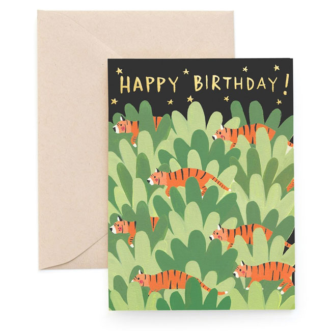 Foil Birthday Card from Carolyn Suzuki Goods #birthday #greetingcard