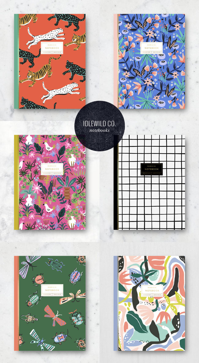 Modern Patterned Notebooks from Idlewild Co. #notebook