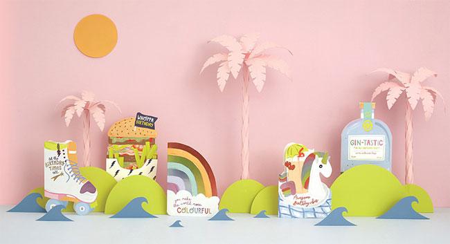 Pop! Die Cut & Foil Cards from Raspberry Blossom #greetingcards #birthday