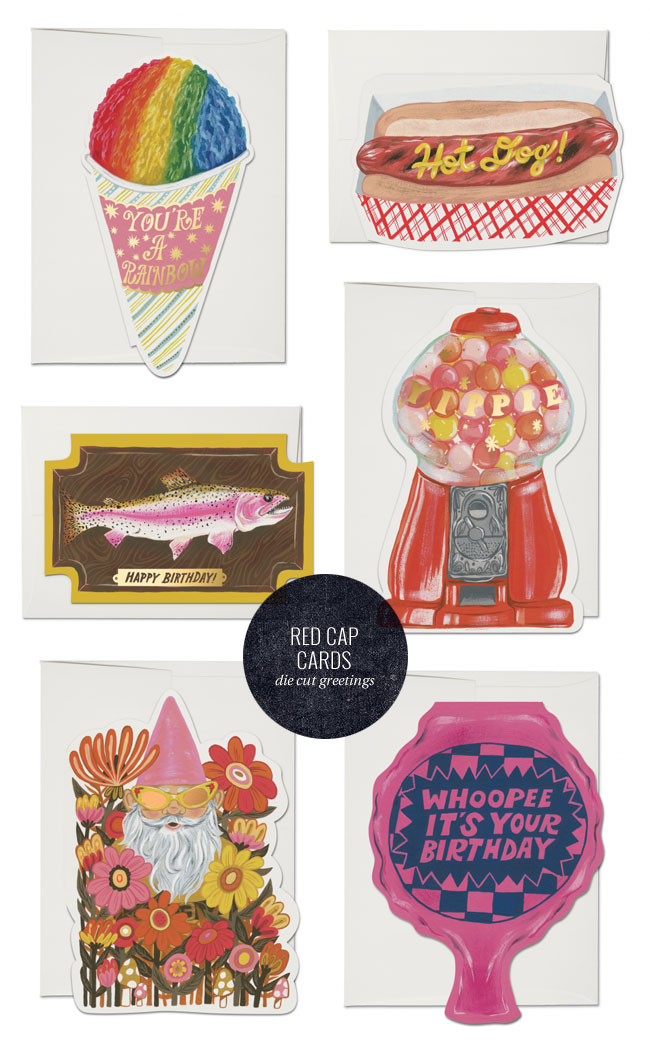 Die Cut Greeting Cards by Krista Perry for Red Cap Cards