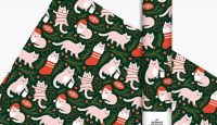 Christmas Cat Gift Wrap from The Detroit Card Co. #giftwrap