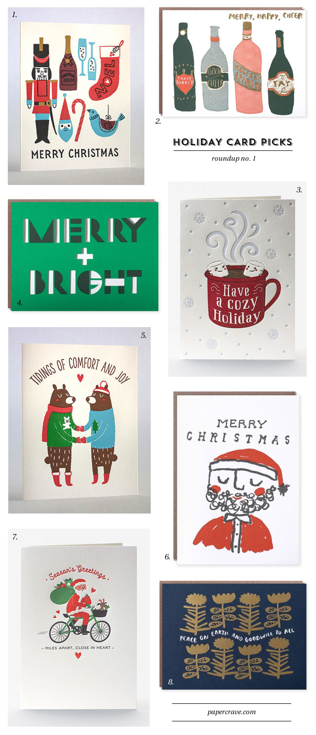 Holiday Card Ideas 2018 from Fugu Fugu Press, Egg Press, and Elum #letterpress #holidaycardideas