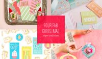 Four Fab & Free Christmas Printables + Paper Craft Projects