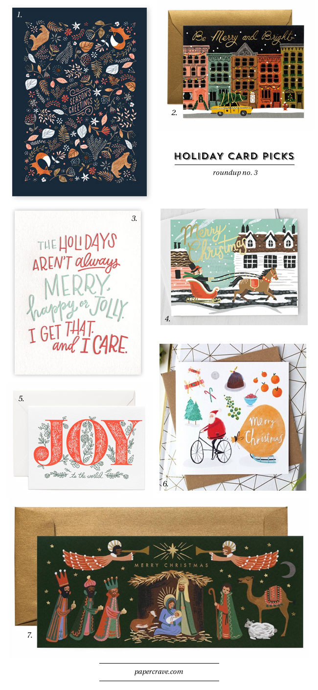 Holiday Card Ideas 2018 from Paper Crave #holidaycardideas